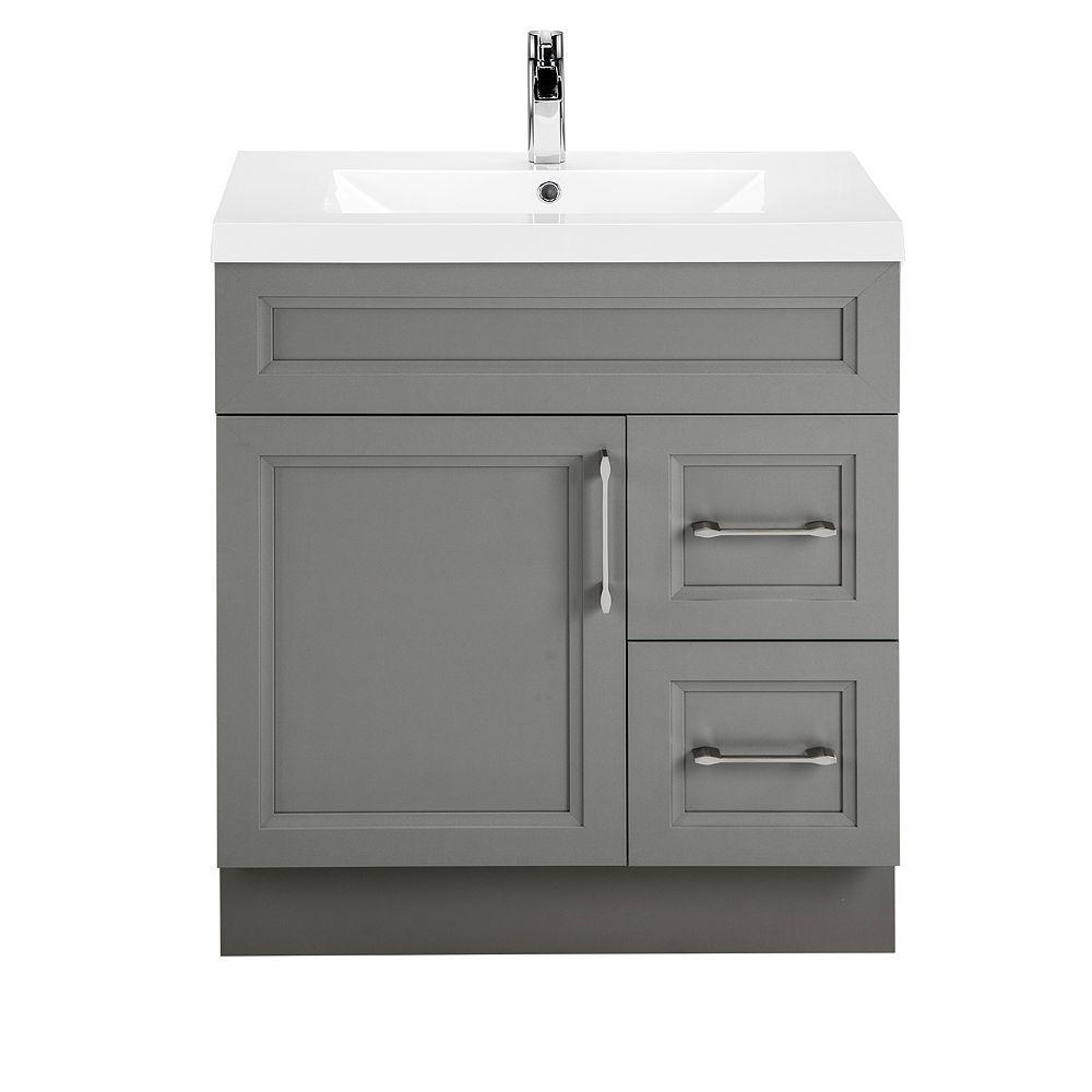 Cutler Kitchen & Bath Fossil 30-inch W 2-Drawer 1-Door
