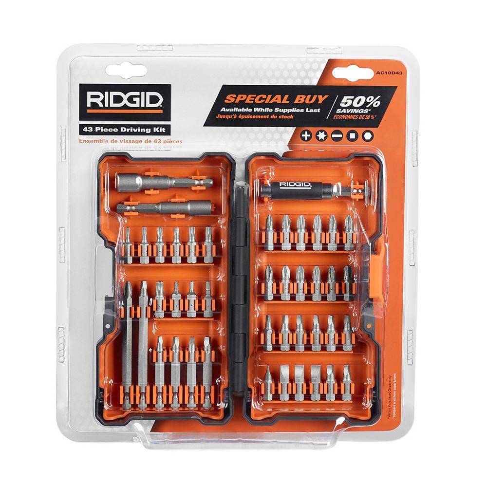 RIDGID Kit d'Entraînement (43 pièces) avec étui Rigide