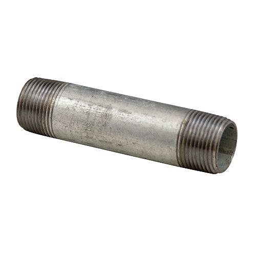 Aqua-Dynamic Galvanized Steel Pipe Nipple 1/2 Inch x 12 inch