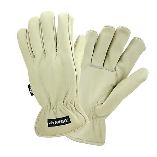 Water-Resistant Leather Glove - L
