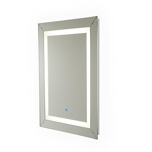 Miroir Modena câblé avec éclairage à DEL pour salle de bains ou meuble-lavabo (24pox32po)