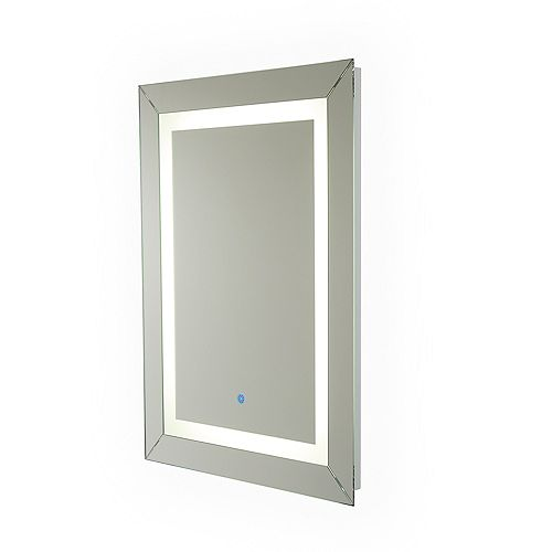 Modena Hardwired LED Illuminated Mirror for Bathroom or Vanity (24 inch x 32 inch)