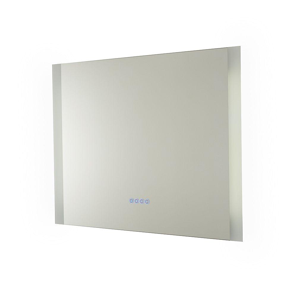 Renin Miroir Symphony câblé Bluetooth avec rétroéclairage à DEL pour salle de bains ou meuble-lavabo