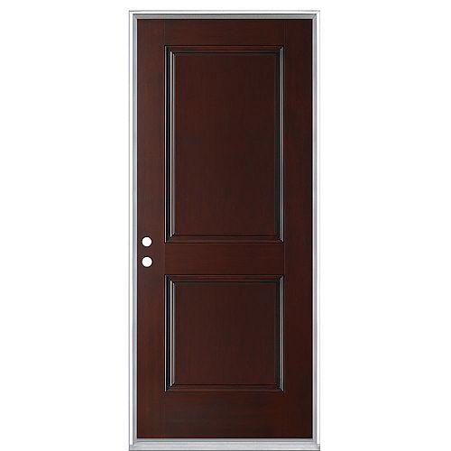 Masonite 32-inch x 80-inch x 4-9/16-inch 2-Panel Everland Fiberglass Cherry Right Hand Pre hung Exterior Door in Cherry