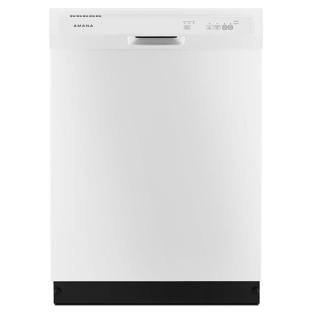Amana Front Control Built-In Tall Tub Dishwasher in White, 63 dBA - ENERGY STAR®