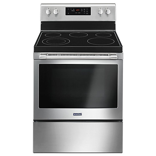 5.3 cu. ft. Electric Range with Self-Cleaning Oven in Fingerprint Resistant Stainless Steel