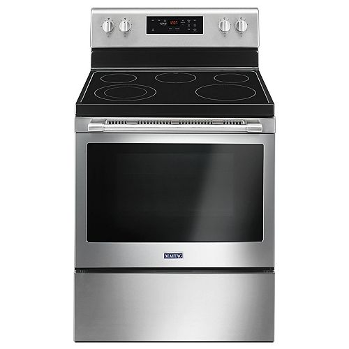 Maytag 5.3 cu. ft. Electric Range with Self-Cleaning Oven in Fingerprint Resistant Stainless Steel