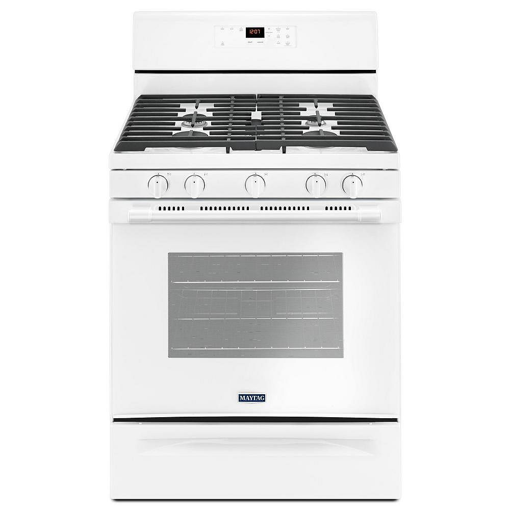 Maytag 5.0 cu.ft. Gas Range with Self-Cleaning in White