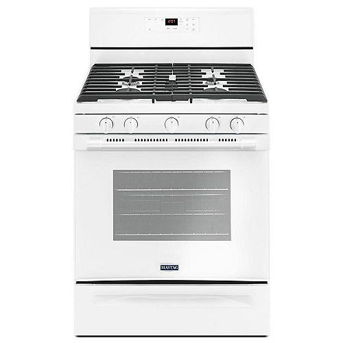 5.0 cu.ft. Gas Range with Self-Cleaning in White