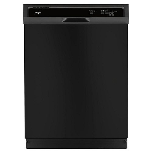 Whirlpool Front Control Dishwasher in Black with Plastic Tub - ENERGY STAR®
