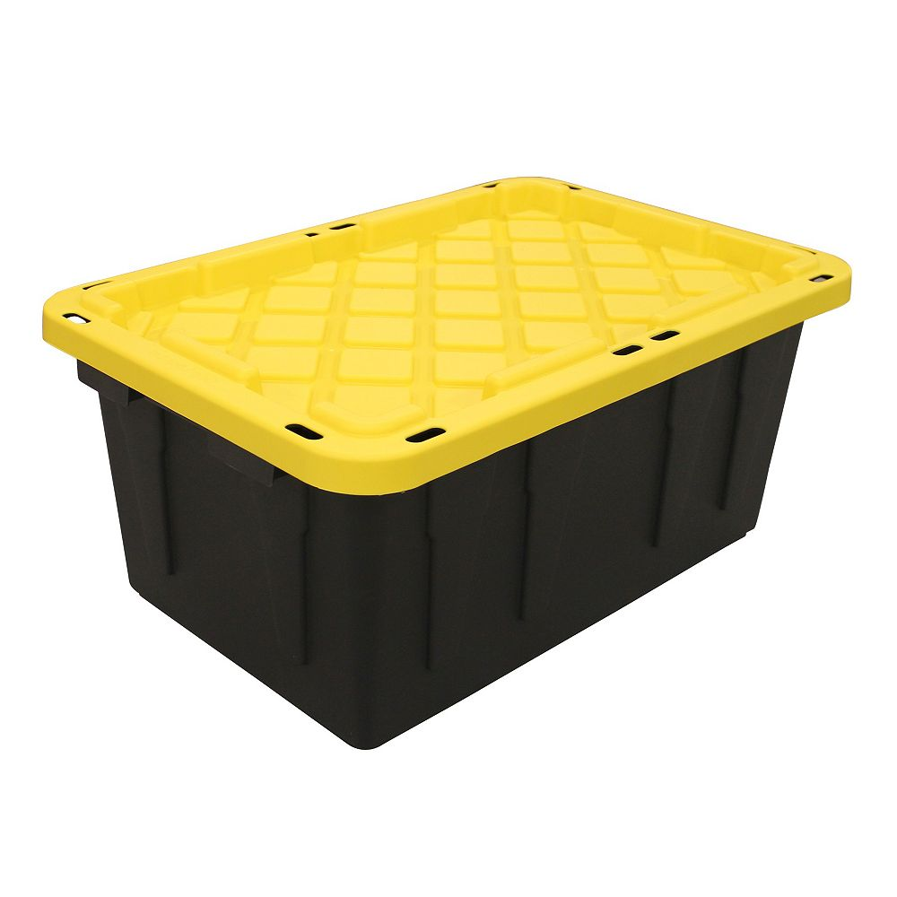 HDX 64L Strong Box Tote in Black/Yellow