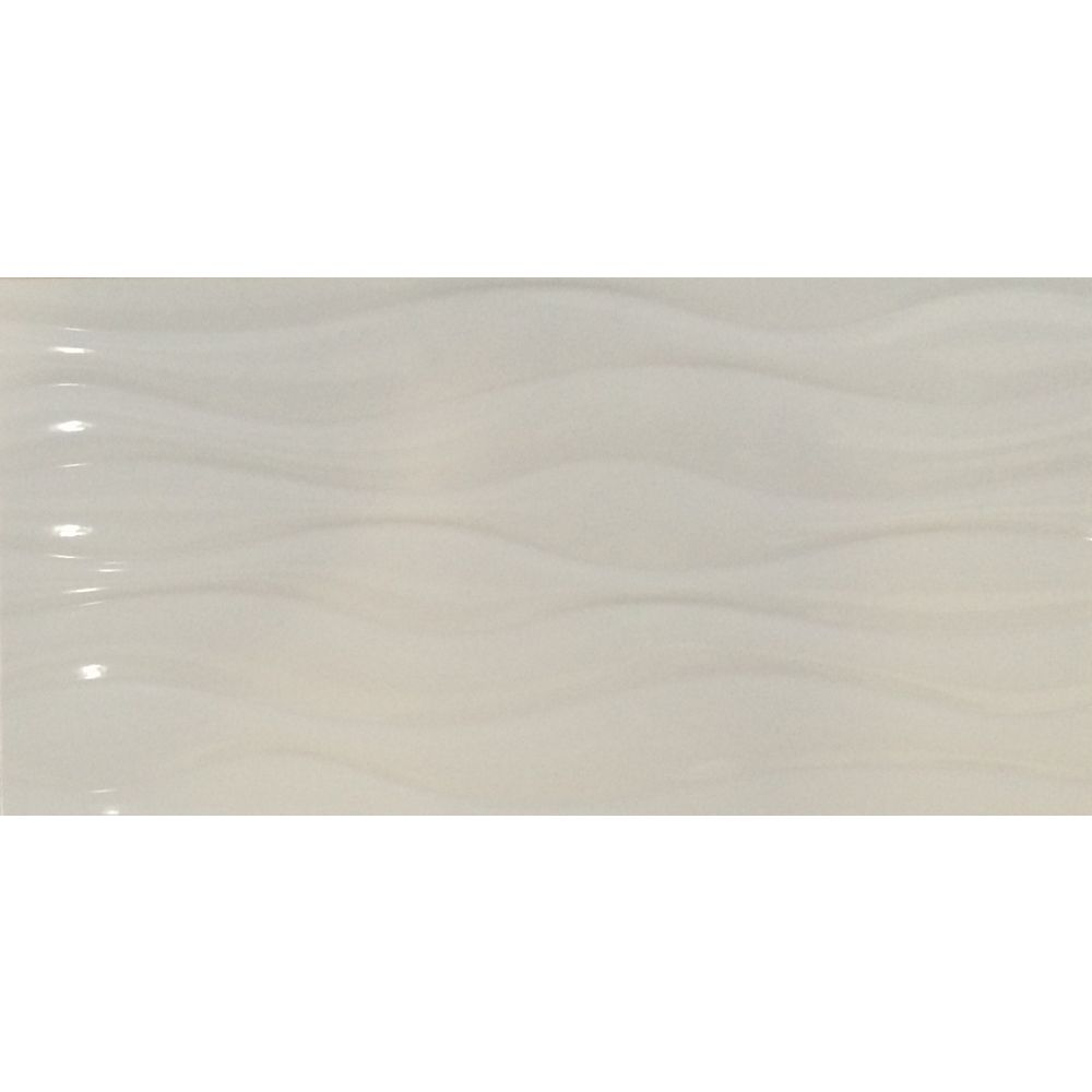 MSI Stone ULC Carr porcelaine vernissée pour planchers et murs Onda Blanco de 12 po  x 24 po