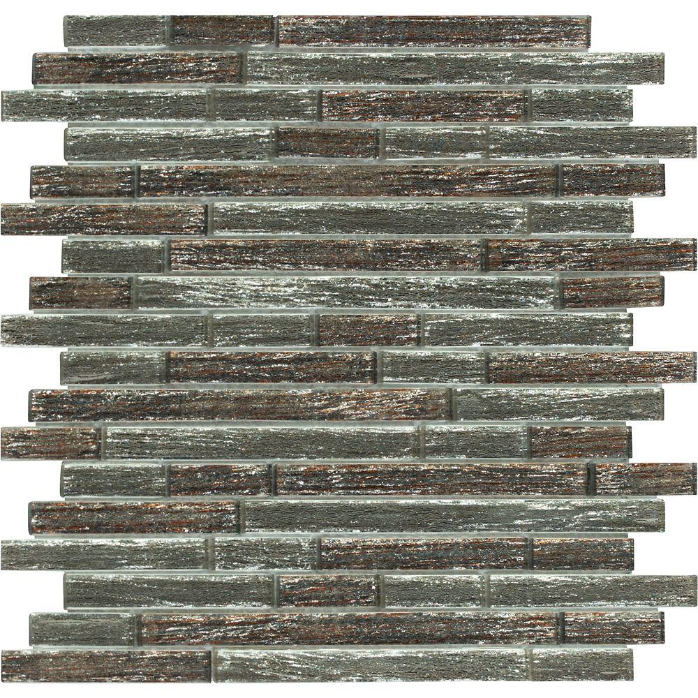 MSI Stone ULC Luxe Interlocking 11.81 Inch x 11.81 Inch Glass Mesh-Mounted Mosaic Tile (9.69 sq. ft. / case)