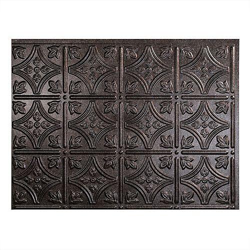 Fasade Traditional 1 Smoked Pewter  18 inch x 24 inch PVC Backsplash Panel