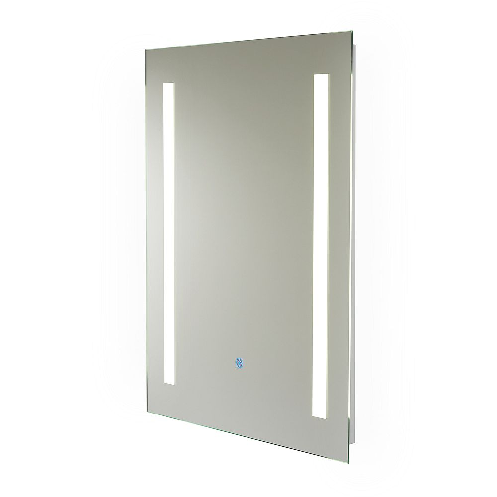 Renin Capri Hardwired LED Illuminated Backlit Mirror for Bathroom or Vanity (24 inch x 32 inch)