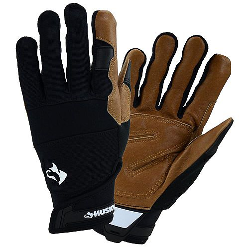 Leather Hybrid Work Gloves - L