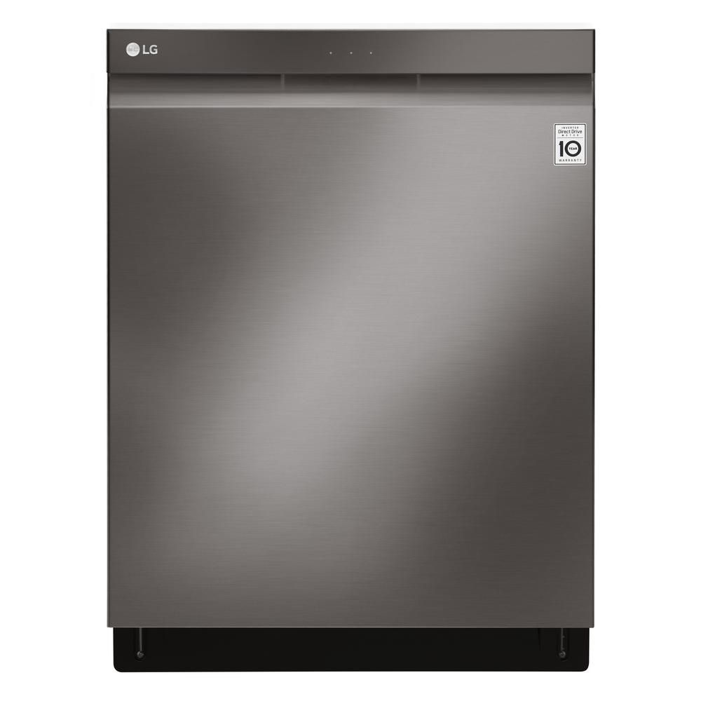 24-inch Top-Control Dishwasher with Pocket Handle and EasyRack in Black Stainless Steel - ENERGY STAR®