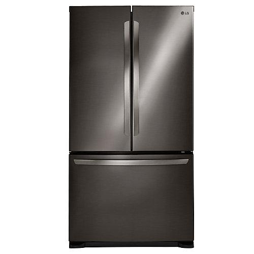 Réfrigérateur à deux battants avec système Smart Cooling, 24 pi3, acier inoxydable noir - ENERGY STAR®