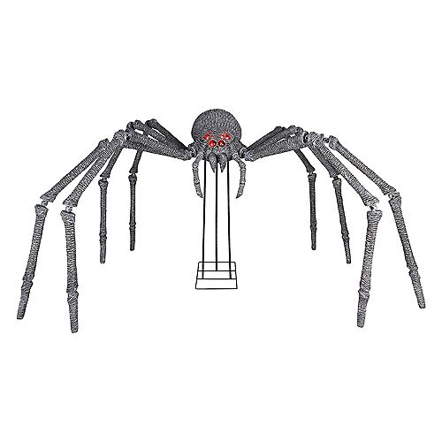 6 ft. Gargantuan Spider with Light-Up Eyes Outdoor Halloween Decoration