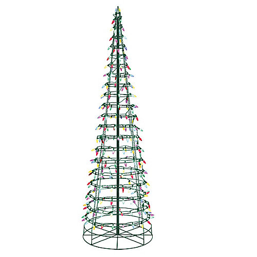 72-inch Multi-Colour LED-Lit Cone Christmas Tree