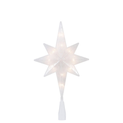 11.5-inch Pre-Lit Glitter Star Christmas Tree Topper