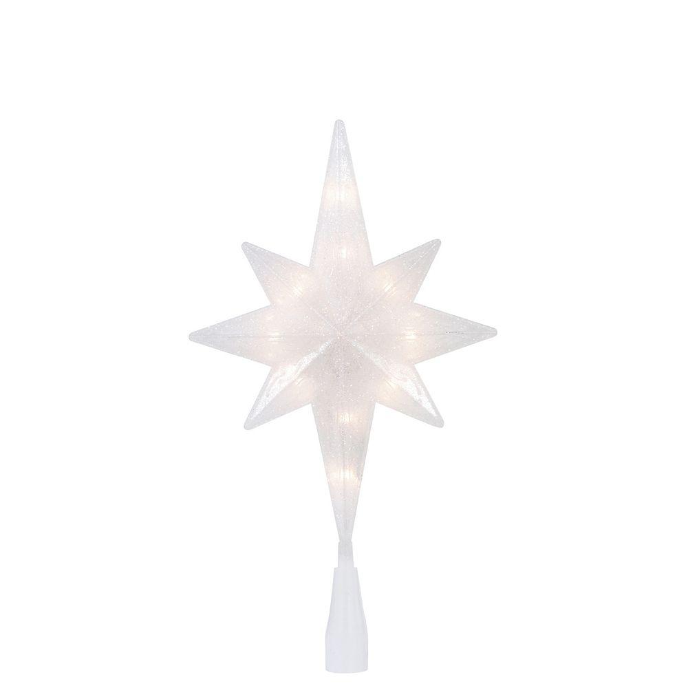 Home Accents Étoile décorative illuminée à paillettes pour cime d'arbre, 11,5 po