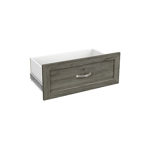 ClosetMaid Style+ 10 inch Standard Shaker Drawer Coastal Teak