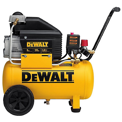 6 Gallon, 135 MAX PSI Horizontal Compressor