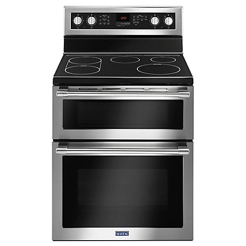 6.7 cu. ft. Double Oven Electric Range with Self-Cleaning Convection Oven in Fingerprint Resistant Stainless Steel