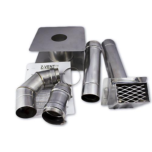 Kit de ventilation horizontal 4 po Z-Vent