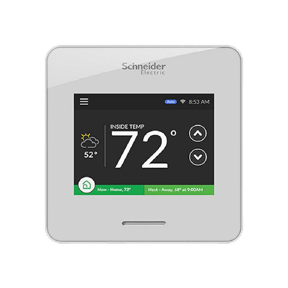 Schneider Electric Thermostat programmable Wiser Air Smart Wi-Fi de Schneider Electric avec écran tactile (blanc)