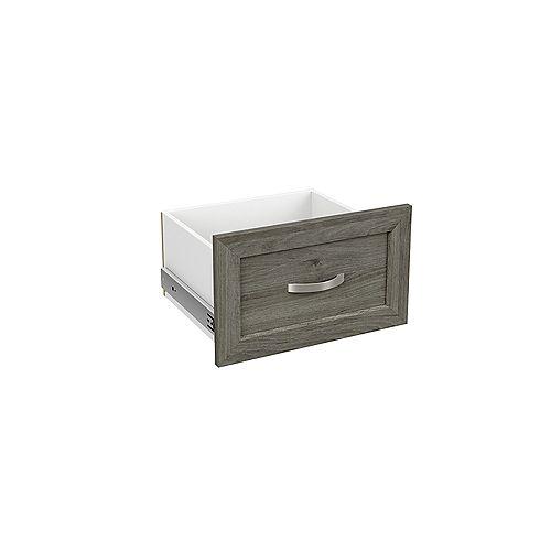 ClosetMaid Style+ 10 inch Narrow Shaker Drawer Coastal Teak