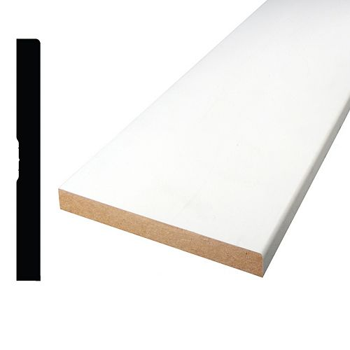 Primed Fibreboard Base 1/2 inch x 4-7/8 inch x 10 ft.