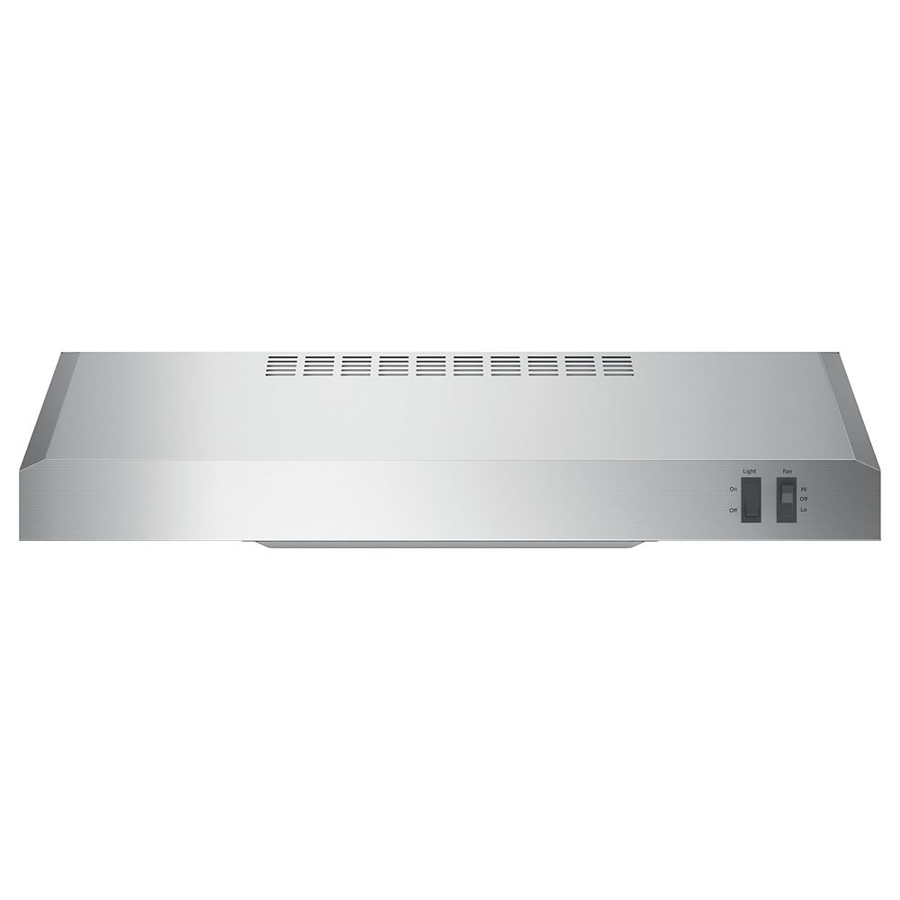 GE 24-inch W Under the Cabinet Vent Range Hood in Stainless Steel