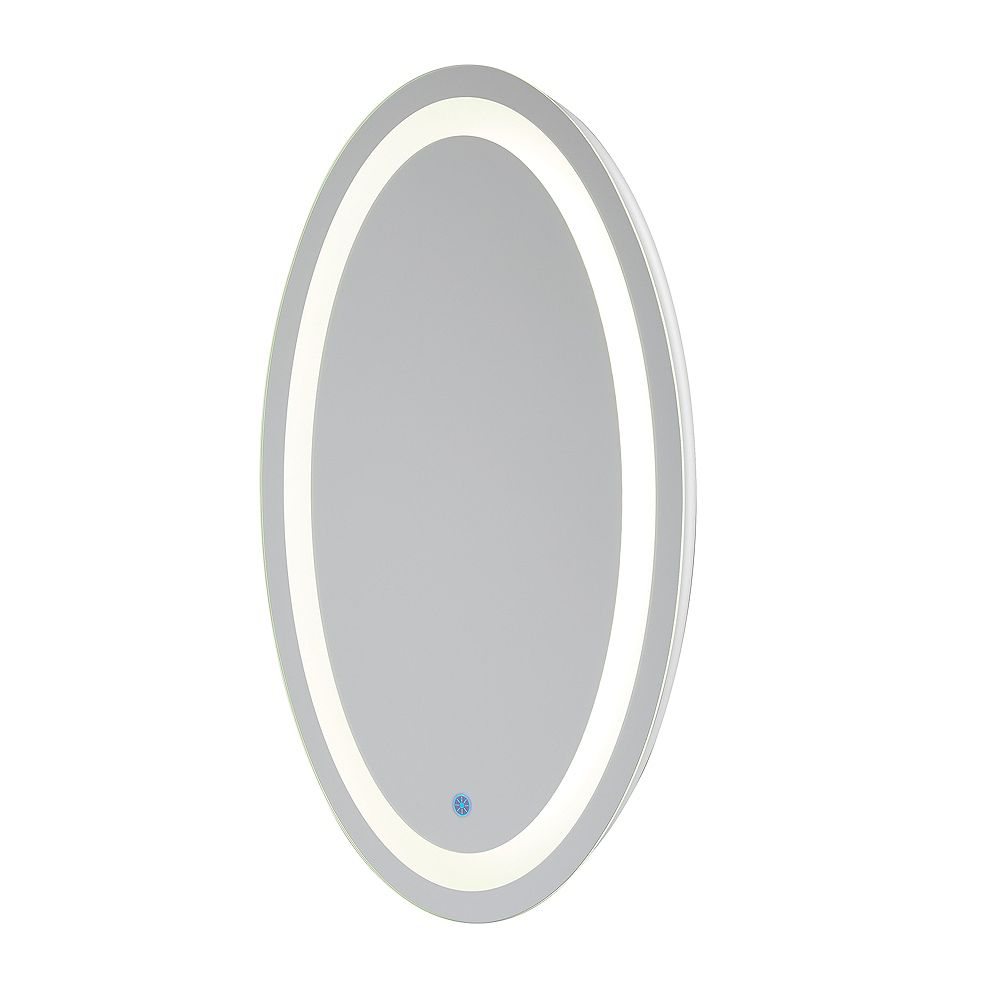 Renin Florence Hardwired LED Backlit Mirror Oval for Bathroom or Vanity (21 inch x 31 inch)