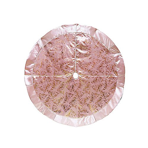 Cache-pied pour sapin,60 po, or rose
