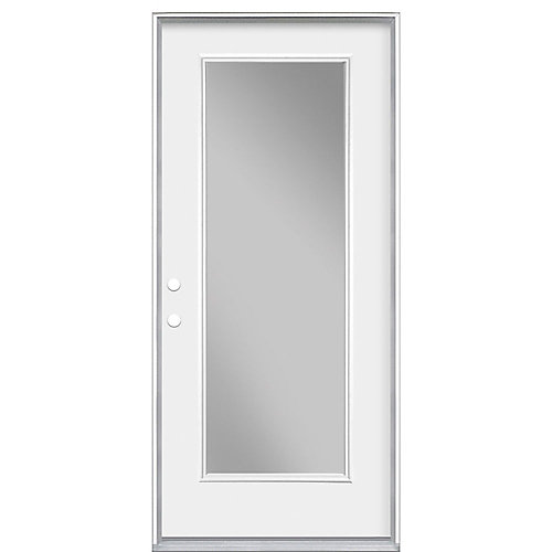 32-inch x 4 9/16-inch Clear Low-E Glass Single-Lite Right-Hand Entry Door
