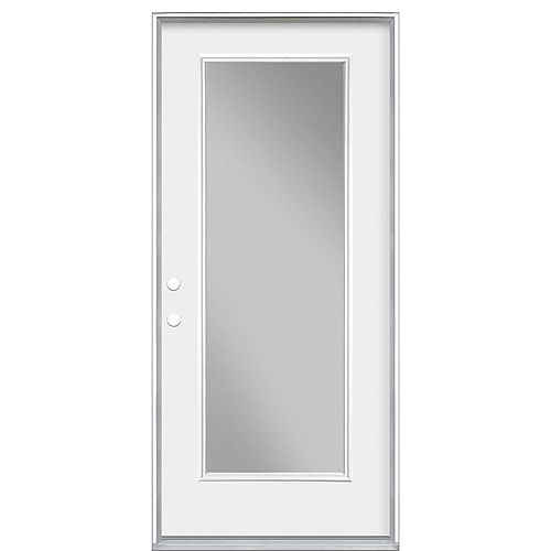 Masonite 32-inch x 4 9/16-inch Clear Low-E Glass Single-Lite Right-Hand Entry Door