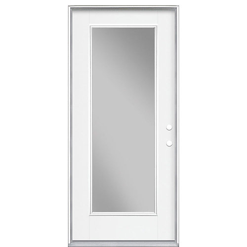 32-inch x 4 9/16-inch Clear Low-E Glass Single-Lite Left-Hand Entry Door - ENERGY STAR