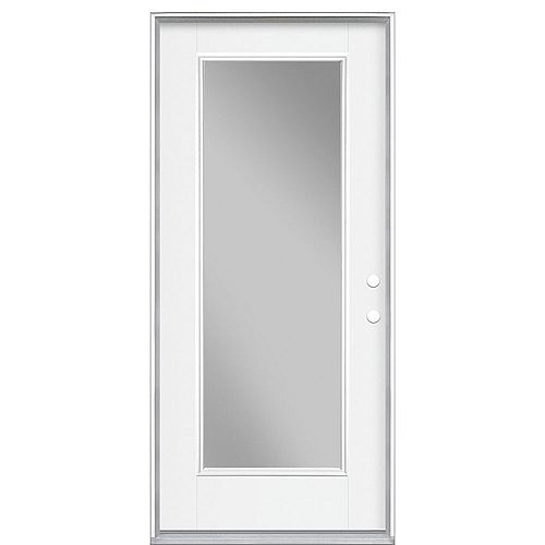 32-inch x 4 9/16-inch Clear Low-E Glass Single-Lite Left-Hand Entry Door