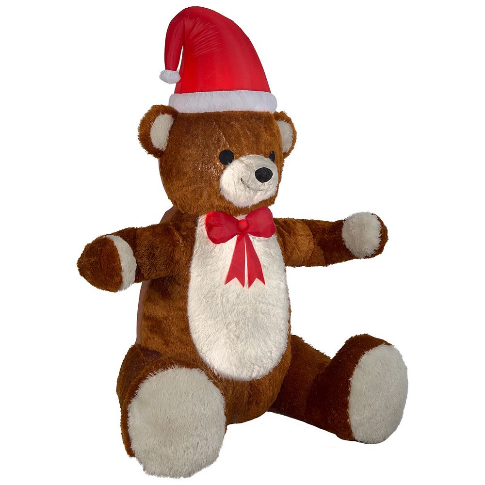 Home Accents 7.5 ft. Airblown Inflatable Hugging Teddy Bear