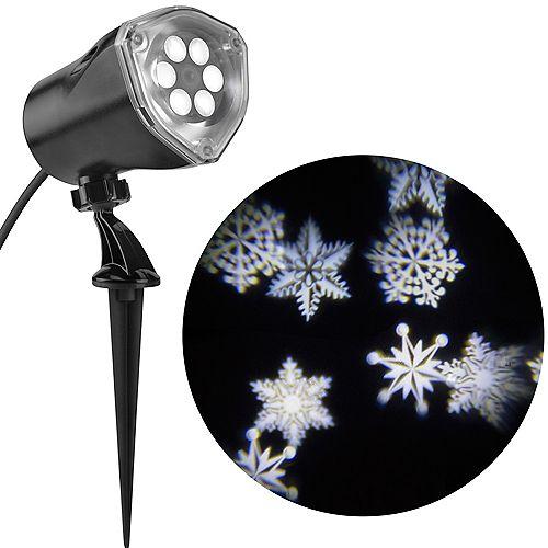 Projecteur d'images à DEL de scènes de Noël avec flocons de neige tournoyants