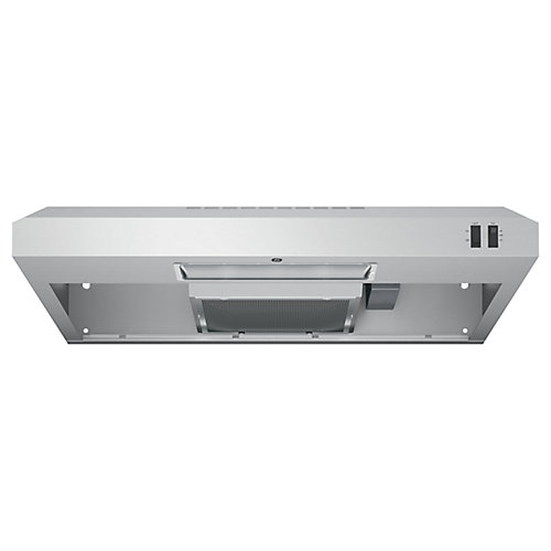 30-inch W Under the Cabinet Vent Range Hood in Stainless Steel