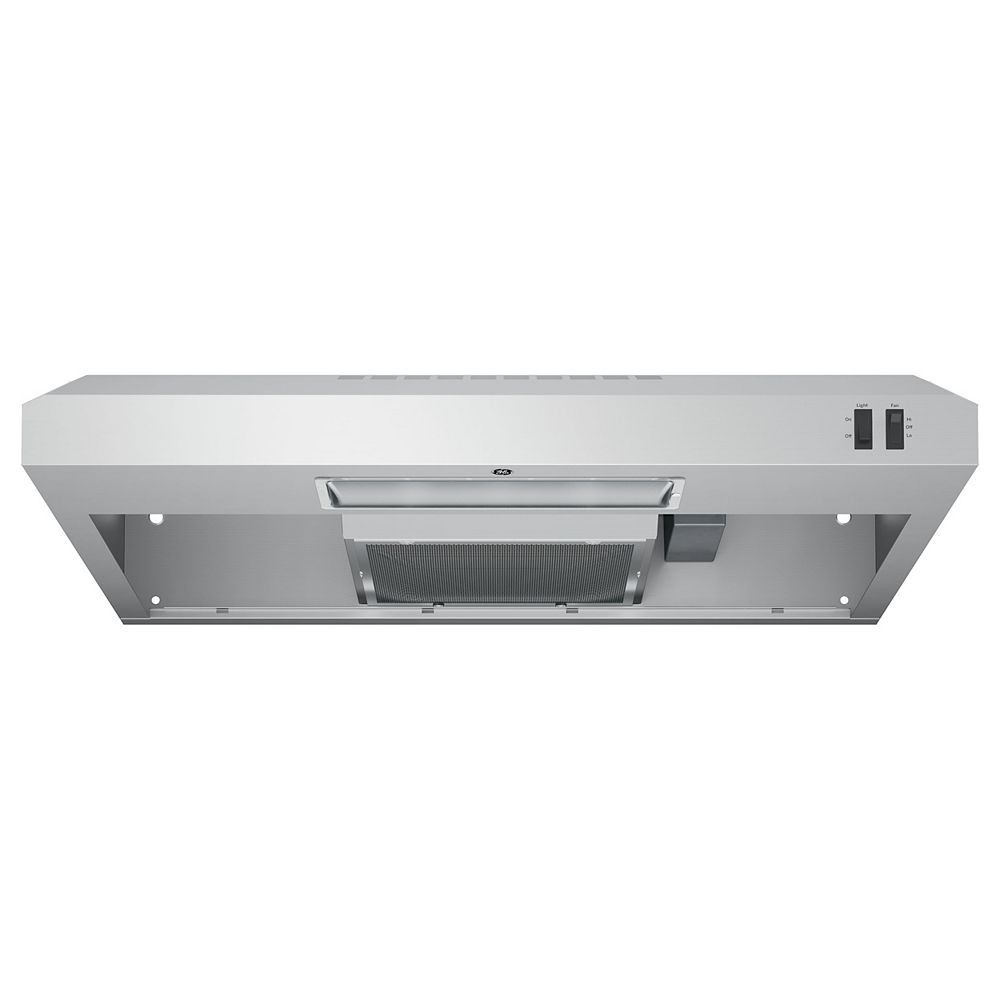 GE 30-inch W Under the Cabinet Vent Range Hood in Stainless Steel