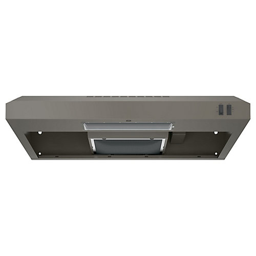 30-inch W Under the Cabinet Vent Range Hood in Slate