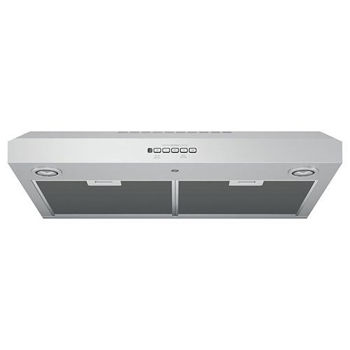 30-inch W 4 Speed Under the Cabinet Range Hood in Stainless Steel