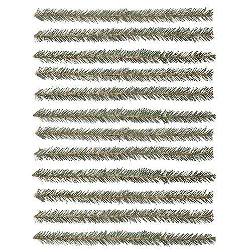 Guirlandes de Noël en faux feuillage de pin, 12 po, 12/paq.