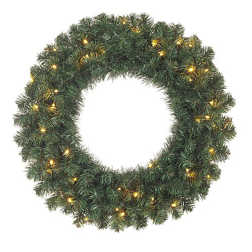 24-inch Balsam Pine Battery-Operated Wreath