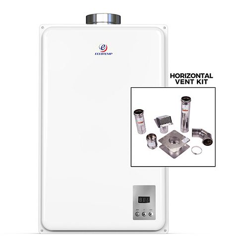 45HI Indoor 6.8 GPM Liquid Propane Tankless Water Heater Horizontal Bundle