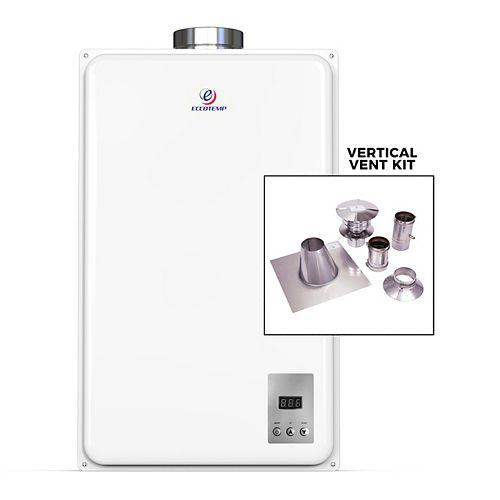 45HI Indoor 6.8 GPM Liquid Propane Tankless Water Heater Vertical Bundle